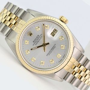 Rolex Mens Watch Datejust 16013 18k Gold and Steel